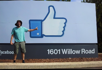 facebook thumbs up sign at their headoffice